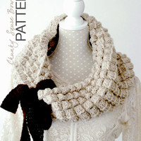 Crochet PATTERN - Instant download: Chunky Square Cowl, Fall / Winter One Infinity Loop