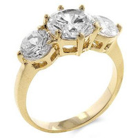 3-stone Engagement Ring, size : 06