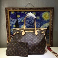 LV Louis Vuitton WOMEN'S MONOGRAM CANVAS NEVERFULL HANDBAG TOTE BAG