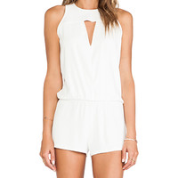 Alexis Dulcina Cut Out Romper in White