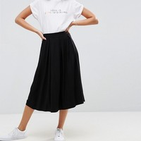 ASOS Midi Skirt with Box Pleats at asos.com