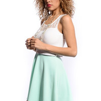 Simple and Sweet Dress - Mint