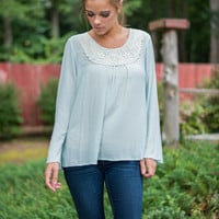 The Crocheted Path Top, Mint
