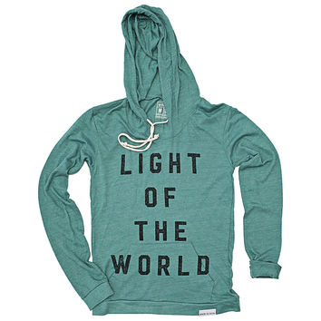 Light of the World Teal Women's Light Weight Hoodie