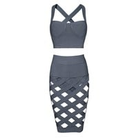 Posh Girl Her Sexy Cut Out Bandage Skirt Set