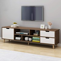 Staggered Wooden Console With TV Cabinet