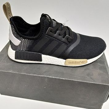 """Women Men """"Adidas"""" NMD Boost Fashion Trending Black and White Leisure Running Sports Shoes"""