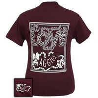 Texas A&M Aggies All You Need Is Love T-Shirt