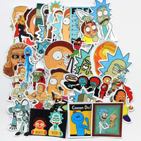 35Pcs/lot pvc American Drama Rick and Morty Funny Sticker Decal For Car Laptop Bicycle Motorcycle Notebook Waterproof Stickers