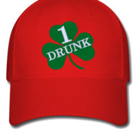 DRUNK 1 embroidery hat  - Flexfit Baseball Cap