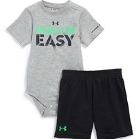 Infant Boy's Under Armour 'Making It Look Easy' Bodysuit & Shorts