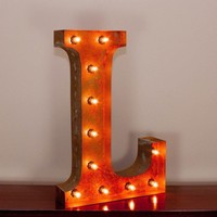 """24"""" Letter L Lighted Vintage Marquee Letters with Screw-on Sockets"""