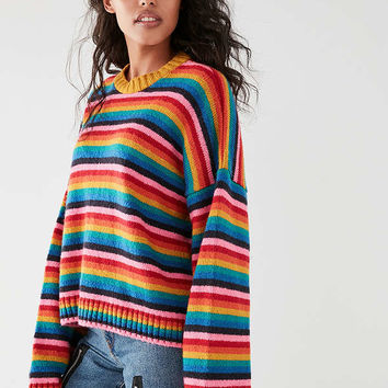 The Ragged Priest Glow Kit Rainbow Sweater | Urban Outfitters