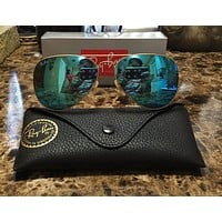 RayBan Ray-Ban Aviator Gold Frame Baby Blue Lens Sunglasses RB3025 112-17BB 62mm outlet