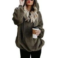 Autumn Winter Hoodies Sweatshirts 2018 Fashion Zipper Long Sleeve Hooded Hoodies Casual Loose Solid Top Pullover Jumpers 5XL