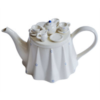 1980s Novelty British Teapot Commissioned by The Tea Council