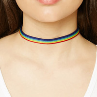 Rainbow Stripe Choker