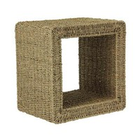 Seagrass Wicker End Table