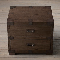"""32"""" Heirloom Silver-Chest Closed Nightstand"""