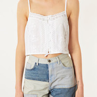 Cotton Lace Strap Top - Tops  - Clothing