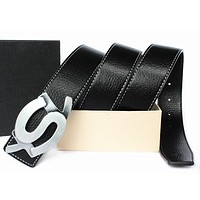YSL Woman Men Fashion Leather Belt