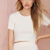 Knitz by For Love and Lemons Back to Basics Crop Top