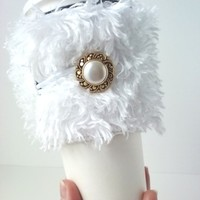 Handcrafted, Eco-Friendly, Adjustable, Tapered Cup Cozy ~ Harvest Fashioned Hand Protection ~ Shaggy » Craftori