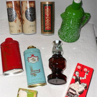 Vintage AVON LOT/ Lot of Avon Products/Containers from Avons Past/For Avon Collectors/Talcum Powder/After Shave/Sachet Cream Jar/Chess Piece