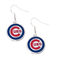 MLB Team Logo Hypoallergenic Dangle Earrings (Chicago Cubs)