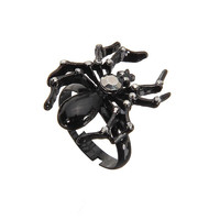 Black Spider Ring with Rhinestones not available