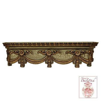 SWAG Canopy BED CROWN TOPPER ARCHITECTURAL in Antiqued Finish