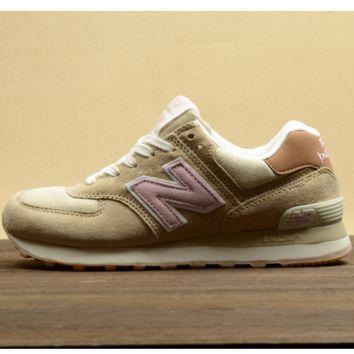 New balance Leisure shoes running shoes men's shoes for women's shoes couples N word Light khaki