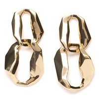 Irregular Double Hoop Earrings Gold - Happiness Boutique
