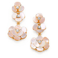 Mother-of-Pearl Pansy Drop Earrings