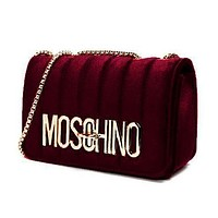 Moschino classic electroplated letter chain bag fashion lady one-shoulder messenger bag