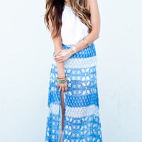Show Me Your Mumu ~ Mick Slit Maxi Skirt ~ Teacup