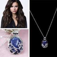 Vintage The Vampire Diaries Katherine Anti-sunlight Lapis Lazuli Necklace