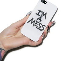 Lauren Moshi I'm a mess iPhone 5 Case Black One