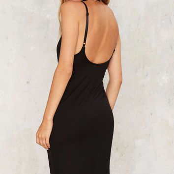 Nasty Gal Scoop Dreams Midi Dress