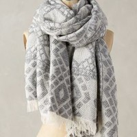 Tolani Northwoods Scarf in Grey Size: One Size Scarves