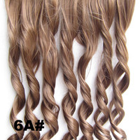 Bath&Beauty Clip in synthetic hair extension hairpieces 5 clips in on wavy slice curly hairpiece GS-888 6A#,Hair Care,fashion COSPLAY ombre 1PCS