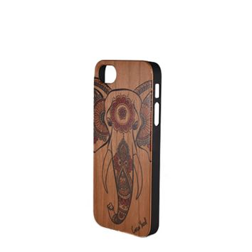 CLEARANCE SALE - Case Yard Painted Wood Phone Case - Ganesha- iPhone 5/5s/SE ONLY