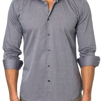 Jared Lang Trim Fit Dot Sport Shirt | Nordstrom