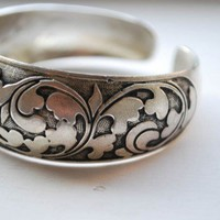 Tibetan Silver Chinese Lucky Knot Bangle Tibetan silver Any Age Unisex | shangrilacraft - Jewelry on ArtFire