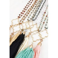 Clover Tassel Necklace| Best Seller