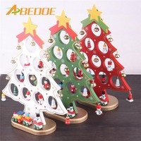 ABEDOE Christmas Wooden Ornament Christmas Tree DIY Christmas Hanging Ornament Gift for Children Home Xmas Table Decoration