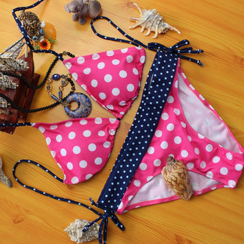 Dot Lovely Sexy Beachwear Swimsuit Bathing Suit Bikini Set