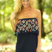 JUDITH MARCH:Twinkle In Your Eyes Dress-Navy