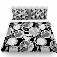 Simple Circles by Julia Grifol Featherweight Duvet Cover