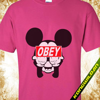 Mickey Mouse obey tshirt,  Mickey Mouse shirt,  Mickey Mouse tshirt,  Mickey Mouse tank,  Mickey Mouse tshirt Men and women Size S - 3XL